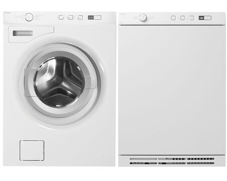 W6424W 2.12 cu. ft. Capacity Front Load Washer + T754W 3.9 cu. ft. Capacity Electric Dryer 341627