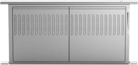 Fisher Paykel DCS HD36 36 Downdraft Vent Hood with Dishwasher-safe Stainless Steel Mesh Filters Slider Exhaust Control 14 Vertical Rise and Discreet Design: Stainless