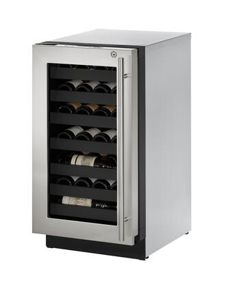 """U-3018WCS-15A 24"""" Wine Captain with 3.6 cu. ft. Capacity  Left Hinge  Convection Cooling  LED Lighting  4 Leveling Legs  U-Select Control and Stainless Steel"""