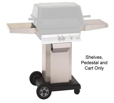 ASPEDANCASHELFUNIV Mounting Kit with Stainless Steel Pedestal  Portable Cart Base for Natural Gas Grill and 1x Extra Side