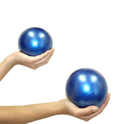 JAS-100-WBP2 Pair of Weighted Pilates Balls with 2 lbs. Each  Sand Filling  Temporary Moldability  and Sleek Blue