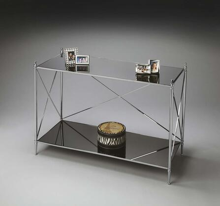 2863220 Modern Expressions Collection Double-Decker Console Table In Nickel