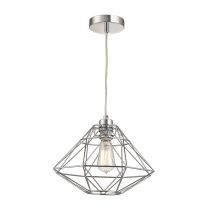 Paradigm Collection D2962 9 inch  Pendant Light with 1 Bulb Capacity  E26 Bulb Type  Indoor Lighting and Metal Construction in Chrome