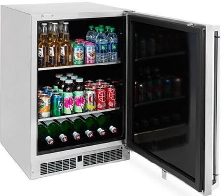 Lynx LM24BFR 24 Professional Series Outdoor Beverage Center with 2 Removable Shelves, in Stainless Steel with Right Hinge