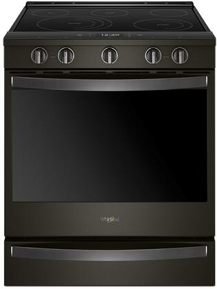 Whirlpool WEE750H0HV 30 Inch Smart Slide-in Electric Range with 5 Elements, Smoothtop