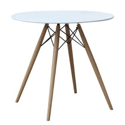 FMI10039-42-white WoodLeg Dining Table 42