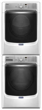 White Front Load Laundry Pair with MHW8200FW 27