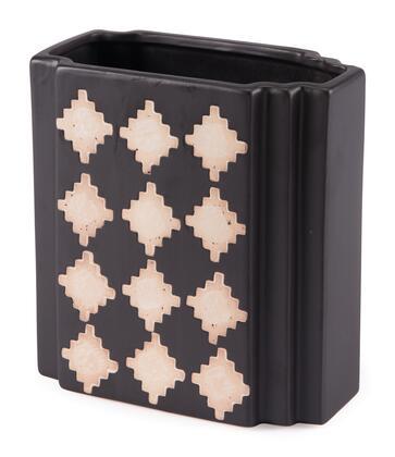 A10514 Pampa Rectangular Vase Small Black &