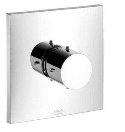 10717001 Axor Starck X Thermostatic Valve Trim with Metal Knob Handle: