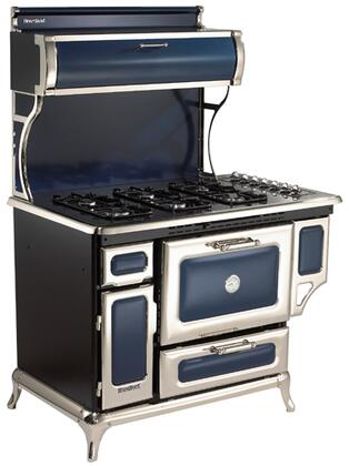 """Classic Series 7200-00P-CBL 48"""" Freestanding Liquid Propane Range with 6 Burners  3.6 cu. ft. Capacity  Broiler Drawer  350 CFM Exhaust System  & Electronic"""