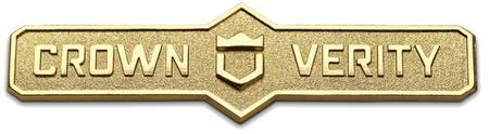 ZCV-2003-16K Bronze  Crown Verity Logo 2016 Nameplate 686438