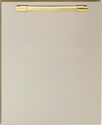 DWPCG 24 inch  Dishwasher Door Panel with Gold Handle  in Cream