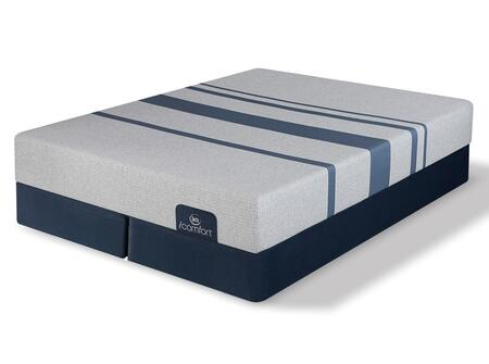 iComfort Foam 500800098CKMFD Mattress + Foundation Set with Blue 100 Gentle Firm California King Mattress and 2x Split