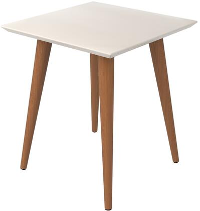 89352 Utopia 19.68 inch  High Square End Table With Splayed Wooden Legs in Off