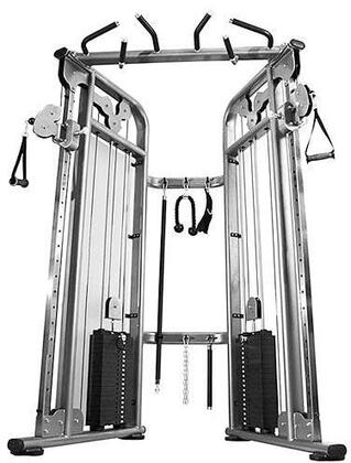 E-4174 9052 Functional Trainer with Two 210 lbs. Weight Stack  22 Adjustment Positions and Premium Aluminum Pulleys in Black and