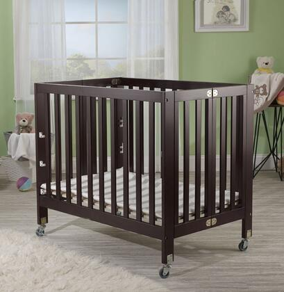 Roxy 1166E 40 inch  Three Level Portable Crib with New Zealand Pine Construction  Mattress Included  Super Smooth Rubber Wheels and CPSA Approved in