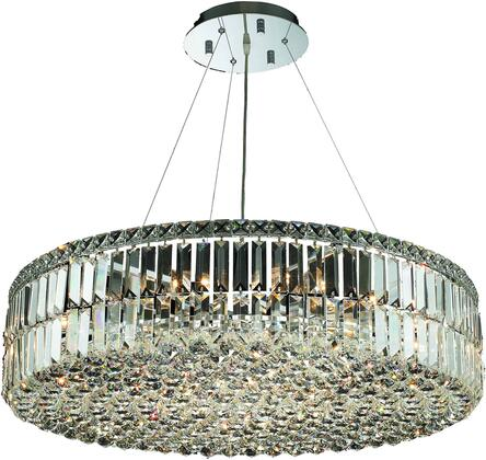 V2030D32C/RC 2030 Maxime Collection Chandelier D:32In H:7.5In Lt:18 Chrome Finish (Royal Cut