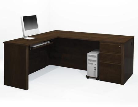 99879-69 Prestige + L-Shaped Workstation Kit Including Assembled Pedestal with Scratch and Stain Resistant Surface in