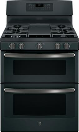 JGB860FEJDS 30 Freestanding Gas Double Oven Range with Convection  6.8 cu. ft. Total Capacity  3 Total Oven Racks  Self-Clean  Steam Clean Option