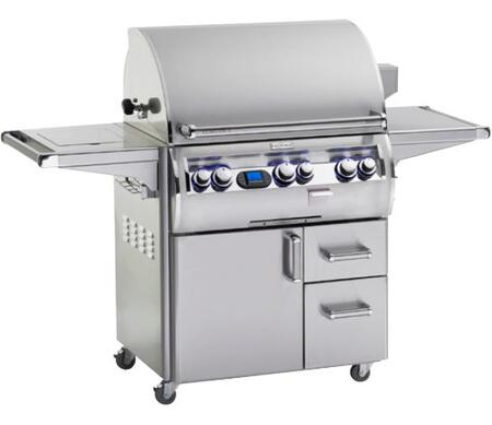 E660S-4L1N-62 Echelon Diamond Series Stainless Steel  Natural Gas Grill with Single Side Burner  One Infrared Burner  660 Sq. In. Cooking Area  and