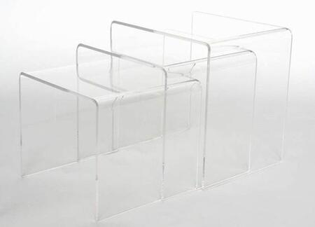 FAY-510 Acrylic Nesting Table 3-Pc Table Set Display Stands: