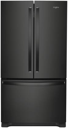 Whirlpool WRF535SMHB 36 Inch French Door Refrigerator with FreshFlow™ Produce Preserver, Accu-Chill™ Temperature Management, Humidity-Controlled Crispers, Temperature-Controlled Deli Drawer, Frameless Glass Shelves, Gallon Door Bins, ENERGY STAR® an
