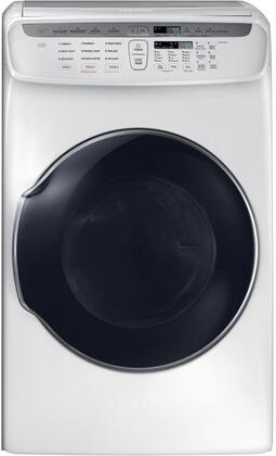 Samsung DVE55M9600W 7.5 Cu. Ft. White Electric Dryer with FlexDry