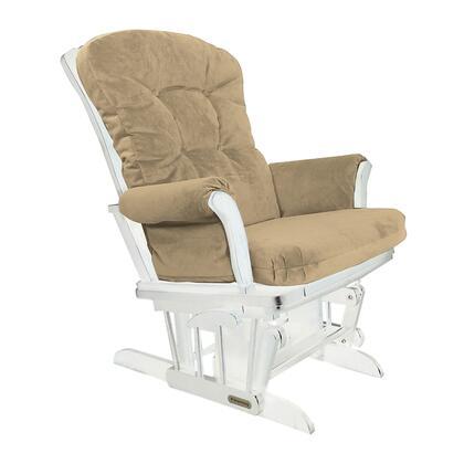 37427KD.15.0189 White Super Comfortable Glider - Bella Buckwheat