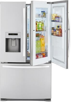 70333 36 French Door Refrigerator with 23.9 cu. ft. Total Capacity  Grab-N-Go Door  in Door Ice Maker and Spill Proof Glass Shelves in Stainless