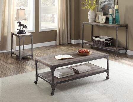 Gorden Collection 81445SET 3 PC Living Room Table Set with 48