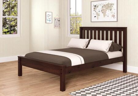 500FCP Full Contemporary Bed with Slat Kit  Mattress Ready Design and Wood Construction in