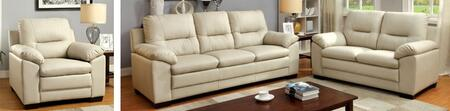 Parma Collection CM6324IV-SLC 3-Piece Living Room Set with Stationary Sofa  Loveseat and Chair in