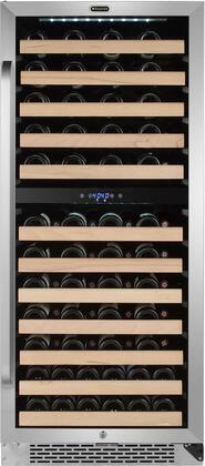 Whynter BWR-0922DZ 92 Bottle Built-in Dual Zone Compressor Wine Refrigerator with Display Rack, Stainless-Steel, One Size
