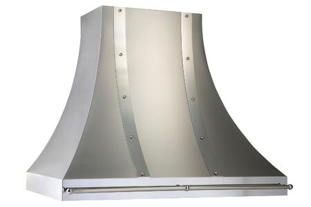 "JDH454C2SSAS 54"" Designer Series Chimney Style Wall-Mount Range Hood With 1200 CFM  Magic Lung Filter-less Design  Dual Level Halogen Lighting  Industry"