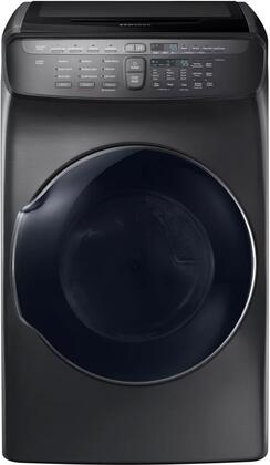 Samsung DVG55M9600V Fingerprint Resistant Black Stainless Steel FlexDry Gas Dryer
