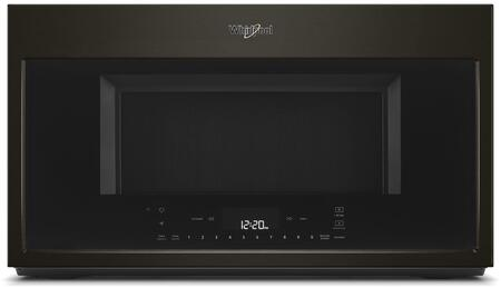 Whirlpool WMH78019HV 30 in with 1.9 cu. ft. Smart Over the Range Convection Microwave in Fingerprint Resistant Black Stainless