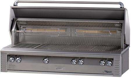 "LX2 ALX2-56BFG-L 56"""" Built-In Liquid Propane Gas Grill With 998 sq. in. Cooking Surface  Integrated Rotisserie Motor  All Sear Zone  3 x 27 500 BTU Main"" 135629"