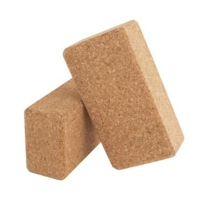 JAS-100-CYB Single Cork Yoga 9 inch  x 6 inch  x 3 inch  Block with Solid  Stable Construction in a Cork