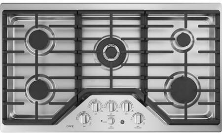 CGP9536SLSS 36 inch  Built In Gas Cooktop with 20000 BTU Tri-Ring Burner  Heavy Cast Edge-to-Edge Grates  White LED Backlit Heavy-Duty Knobs  and Control Lock