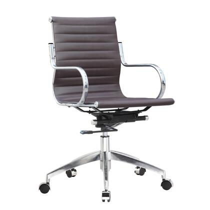 FMI10226-dark brown Twist Office Chair Mid Back  Dark