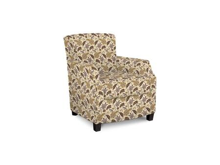 Comiskey Connection 1149-02/BE12-2 28 inch  Accent Chair with Fabric Upholstery  Tapered Wood Legs  Tight Back and Contemporary Style in Golden Rod Woven Floral
