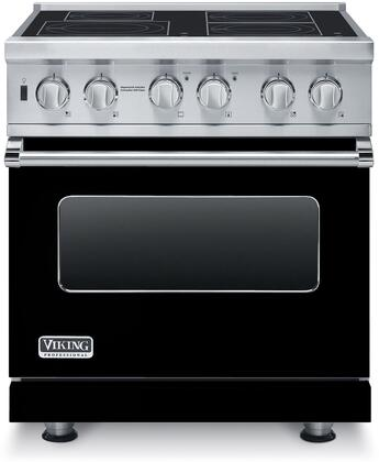 """Professional 5 Series VISC5304BBK 30"""" Electric Induction Range with MagneQuick Induction Elements Vari-Speed Dual Flow Convection Gourmet-Glo Infrared"""
