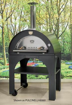PULCINELLA6060 45 inch  Pulcinella Series Direct Wood Burning Oven with 2 Pizzas Capacity  2 Minute Quick Cooking Time Per Pizza  Stainless Steel Construction