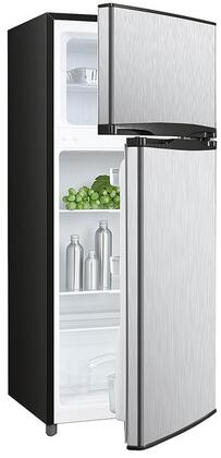 Avanti RA45B3S 4.5 Cu. Ft. Two Door Deluxe Refridgerator with Freezer, Stainless Steel Front and Black Sides