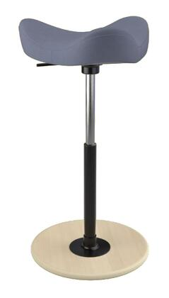 MOVE 2600 DINIMICA 9058 NAT HI BLK 26 inch  - 34 inch  Sit-Stand Chair with Dinimica Upholstery  9058 Color Code  Natural Ash Base  High Lift Height and Black Gas