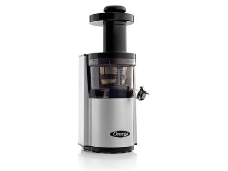 VSJ843RS Masticating Juicer with Low Speed 43 RPM Operation  1/5 HP Condensed Motor  Automatic Pulp Ejection and Auto-Cleaning System in
