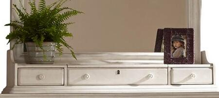 Newport 3710-129 Storage Box (Mirror) with 3 Drawers  Simple Pulls and Drawer Lock in Antique