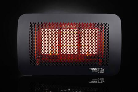 TNG300NG 300 Series  Tungsten Smart-Heat  3 Burner Radiant Outdoor Natural Gas Heater with 23 700 BTUs  Electronic Ignition  Universal Bracket and Stainless