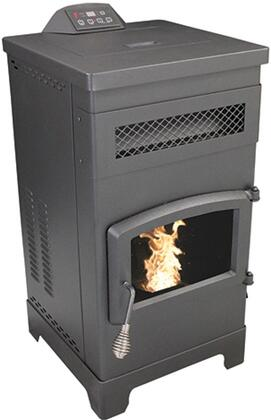 VG5770 Slimline Pellet Stove with 48 000 BTUs Heating up to 2 200 sq. ft. 60 lb. pellet capacity LED Display with Thermostat Remote EPA Certified and