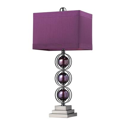 D2232 Alva Contemporary Table Lamp In Black Nickel And